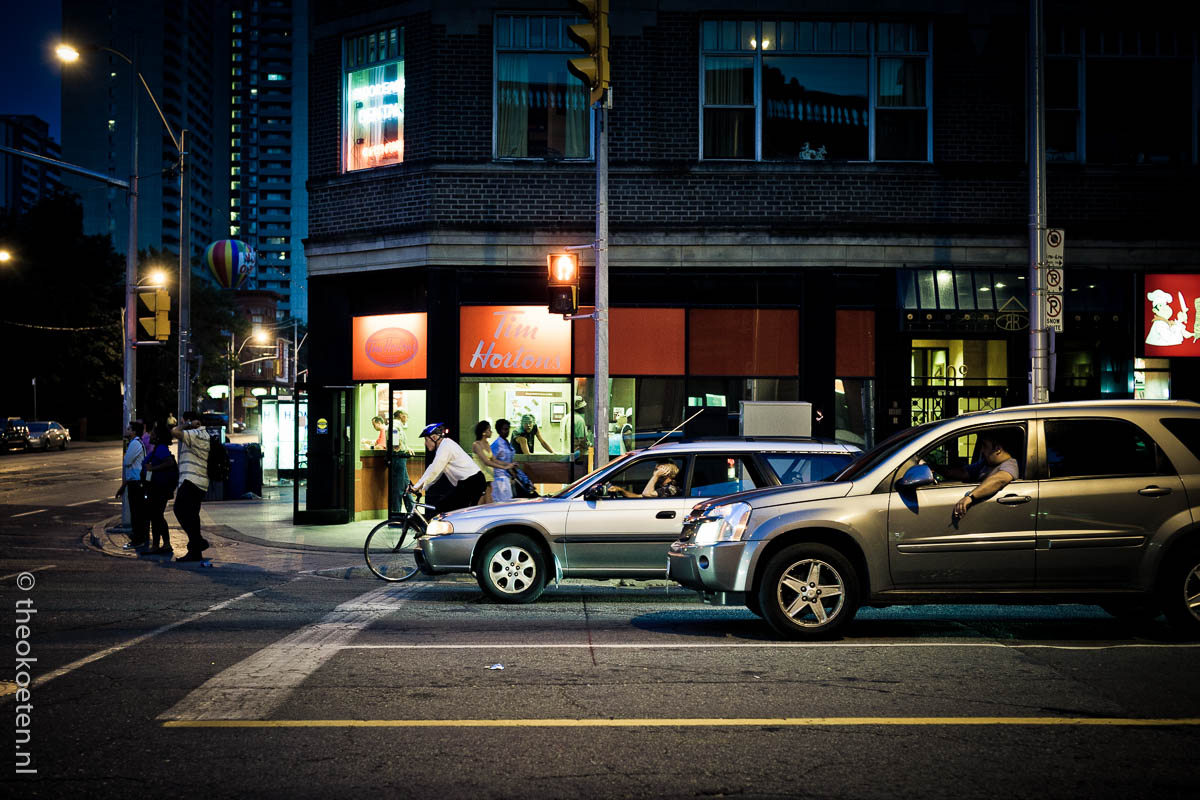 night scene, pleasant road, Toronto