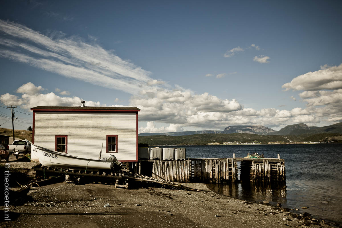 boats , Canada, cloud formation, gros morne, harbor, new foundland, woody point