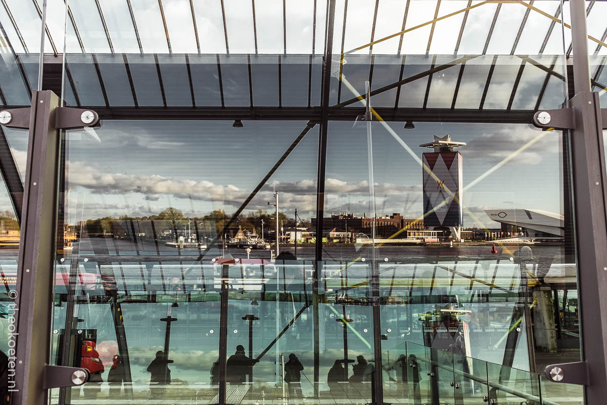 amsterdam, fuji x100s/t, reflection, train
